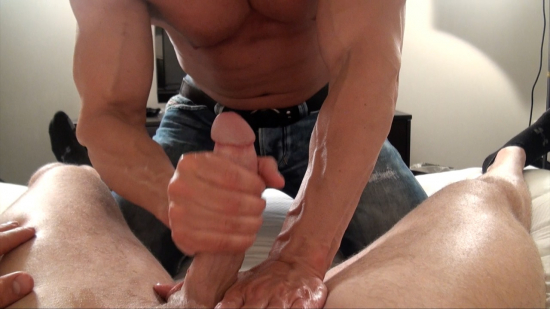 The first part of a 3 hour shoot that milked 2 huge loads from Big Brad!